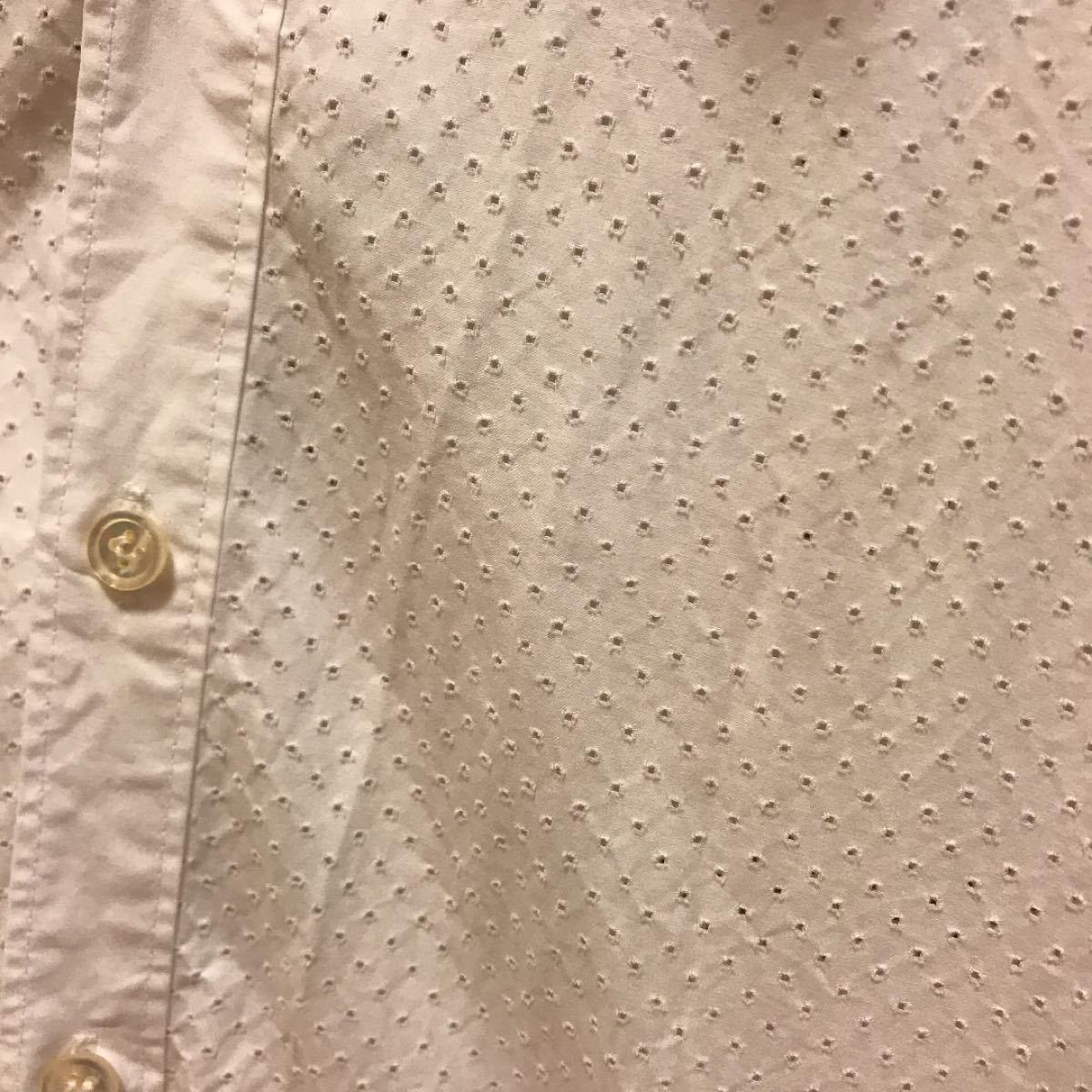 半袖シャツ シャツ 半袖 Tシャツ パンチングシャツ パンチング 白シャツ
