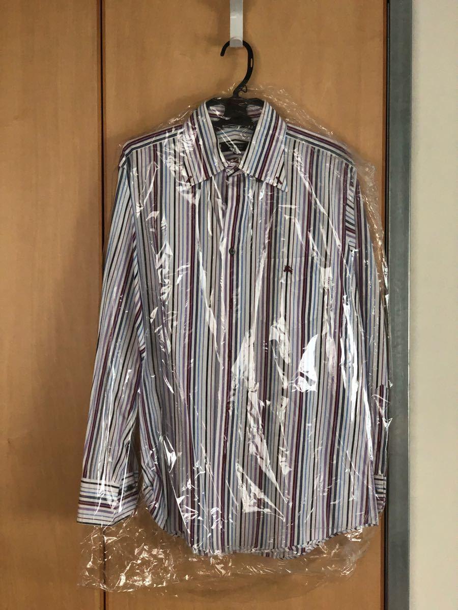 Burberry バーバリーブラックレーベルシャツ サイズ3 ストライプシャツ