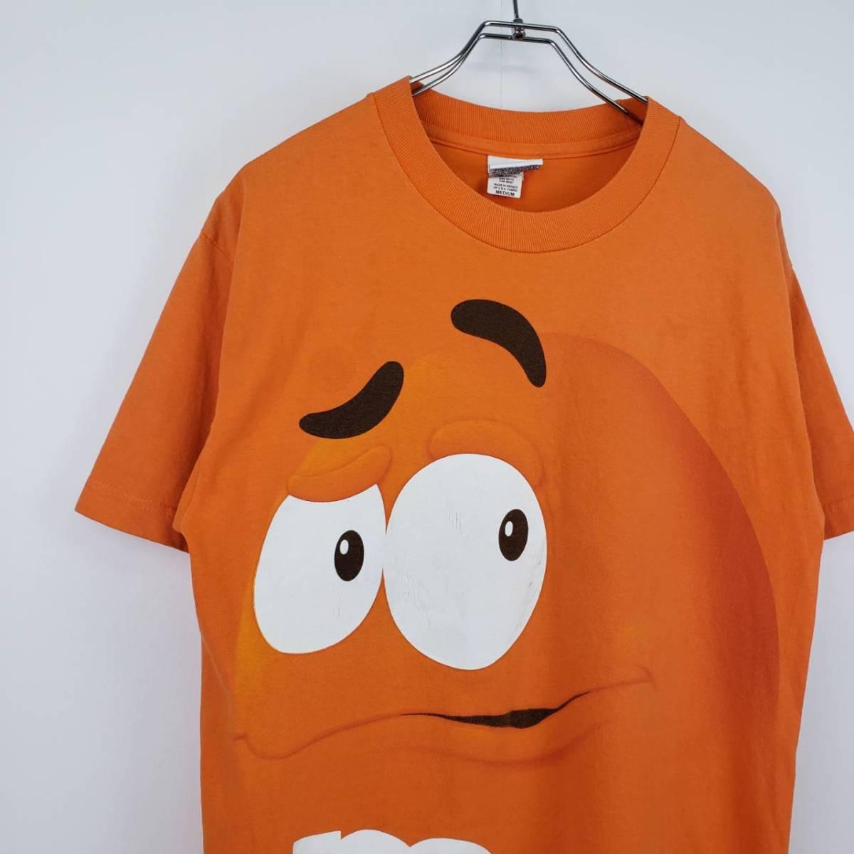 Paypayフリマ 古着 90s M M S エムアンドエムズ Tシャツ オレンジチョコ メキシコ製