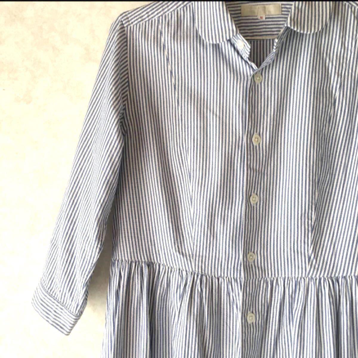 シャツワンピース モリカゲシャツ ストライプ ワンピ 京都 morikage