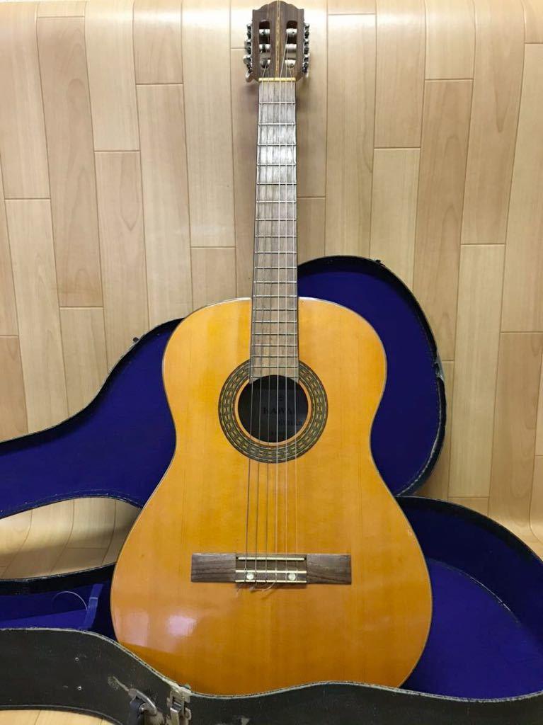 長野発!希少!HAMAMATSU KAWAI KG-403 クラシックギター ハードケース 付き現状品_画像1