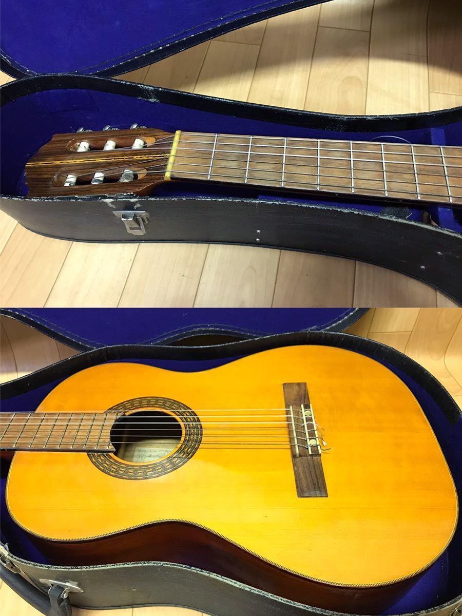 長野発!希少!HAMAMATSU KAWAI KG-403 クラシックギター ハードケース 付き現状品_画像3