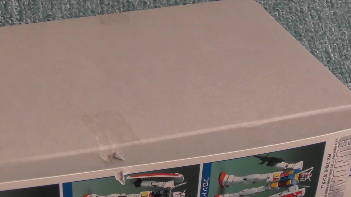 BANDAI / 1/144  RX-78-2 ガンダム (機動戦士ガンダム) プラモデル / FIRST GRADE GUNDAM_箱に一部テープ痕、破れあり