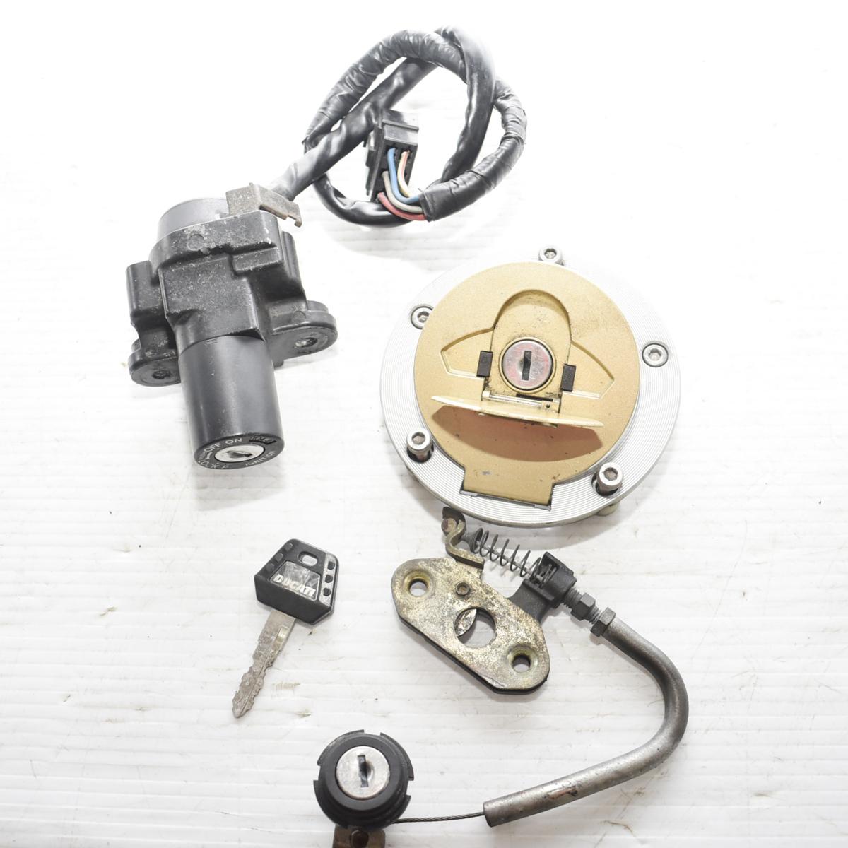 ドゥカティ SS900 ZDM1LC メインキー タンクキャップ シートロック 共通キーセット 【A】ASV_画像1