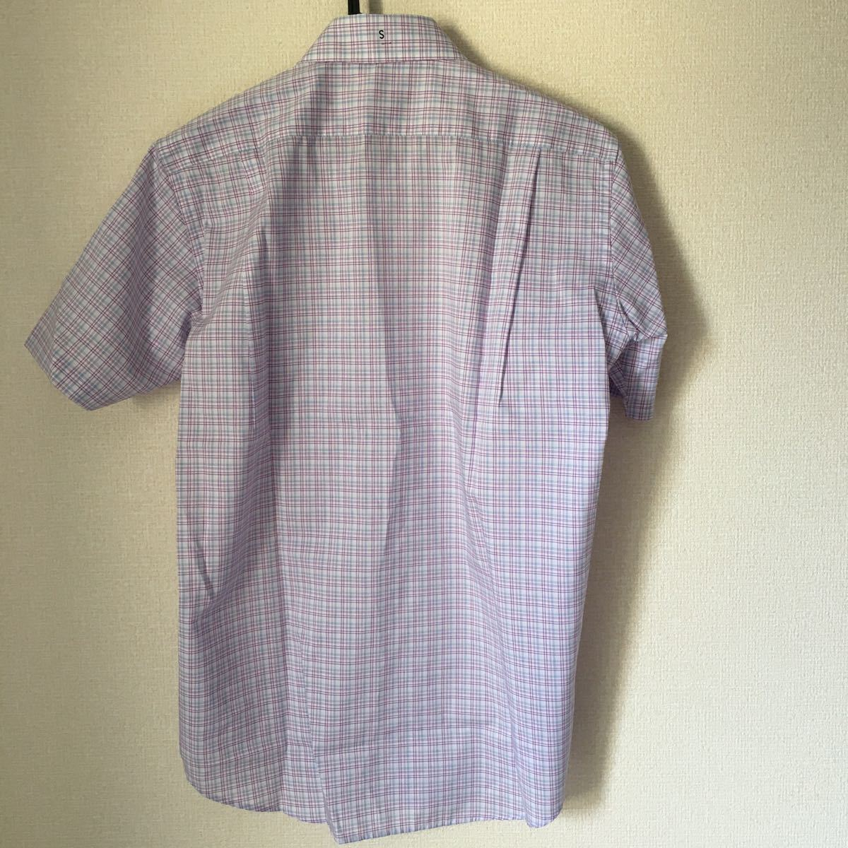 半袖シャツ ボタンダウンシャツ チェック柄 ユニクロ UNIQLO 新品 S