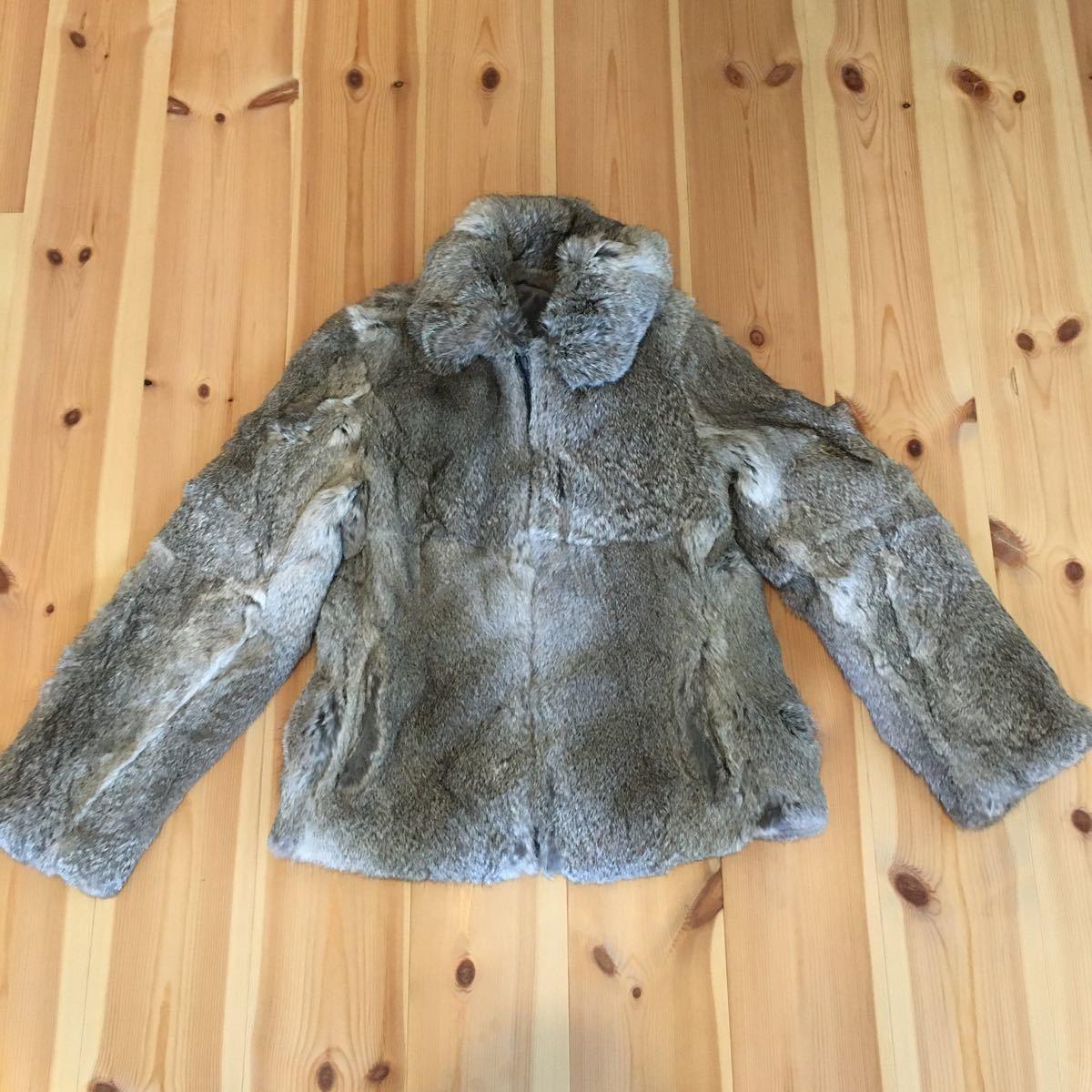 ファージャケット ラビットファー 毛皮 コート ジャケット