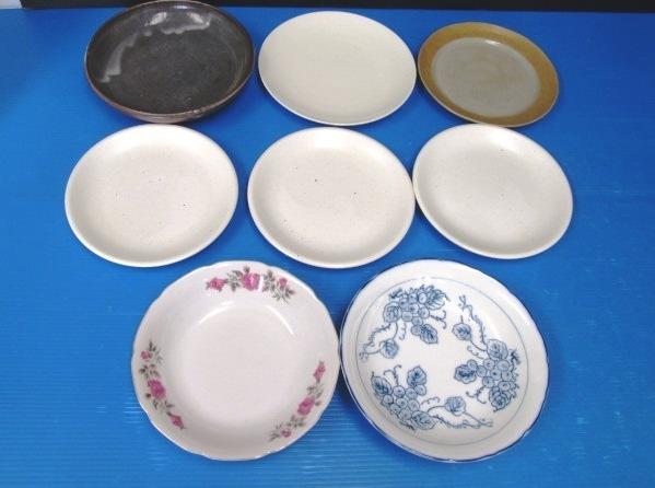 【まとめ売り】 ★ 和食器 8枚セット ★ 平皿 5枚 / 盛鉢 大鉢 3枚 花柄、ブドウ柄、無地など