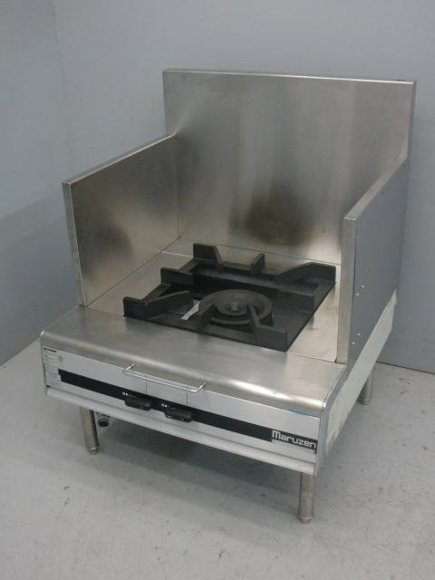 03-21871中古品 マルゼン スープレンジ MLSX-077C 都市ガス ローレンジ 750×735×450 ガスコンロ 業務用 厨房機器 1連 _画像1