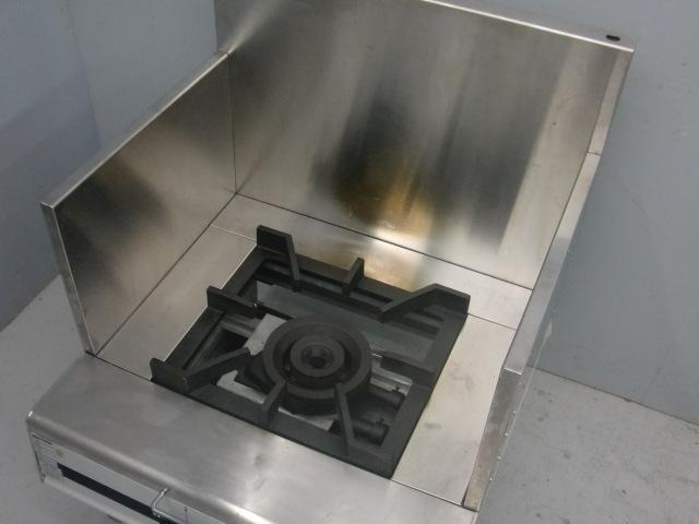 03-21871中古品 マルゼン スープレンジ MLSX-077C 都市ガス ローレンジ 750×735×450 ガスコンロ 業務用 厨房機器 1連 _画像2