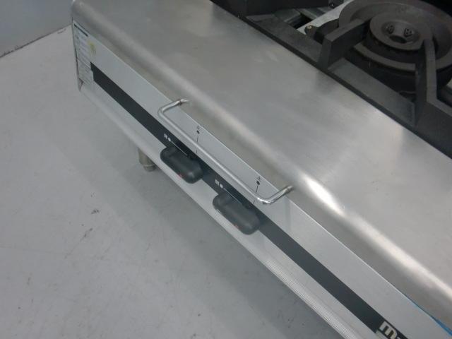 03-21871中古品 マルゼン スープレンジ MLSX-077C 都市ガス ローレンジ 750×735×450 ガスコンロ 業務用 厨房機器 1連 _画像4