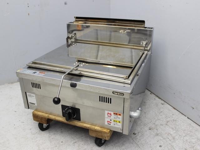 03-26888 中古 タニコー 餃子焼器 N-TCZ-6060G 都市ガス ギョーザ焼き 業務用 厨房機器 600×600×260 ガス式 グリドル 仕切りなし_画像1