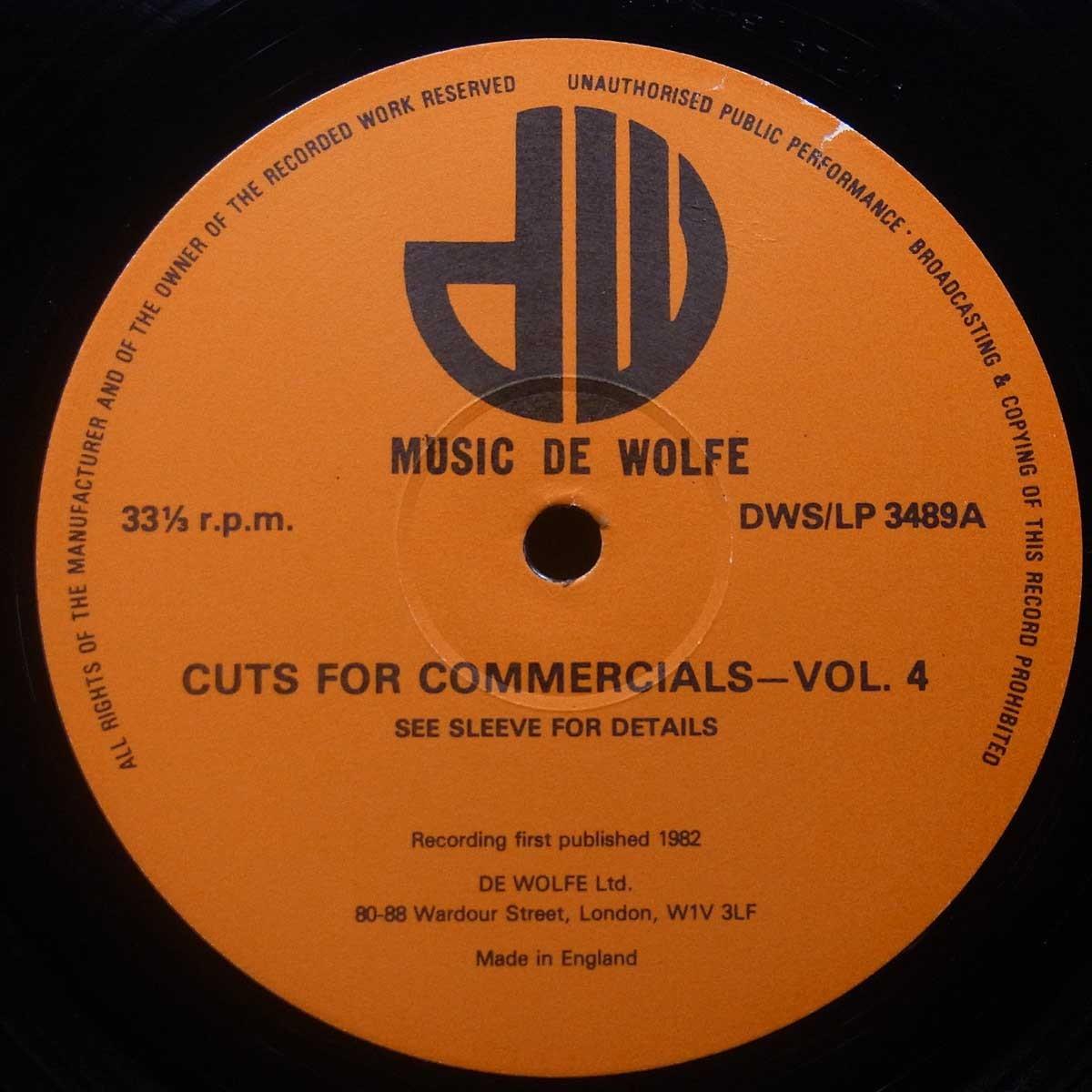 ◆激レア!市販無し!Soft Machineのクリスマス・ジングル収録!★Karl Jenkins/Mike Ratledge[Cuts For Commercials 4] UKオリジLP #58418_画像3