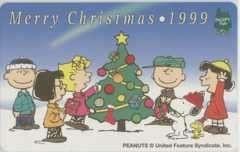 【テレカ】スヌーピー メリークリスマス1999 SNOOPY TOWN スヌーピータウン PEANUTS 10K-SH0017 Aランク_画像1