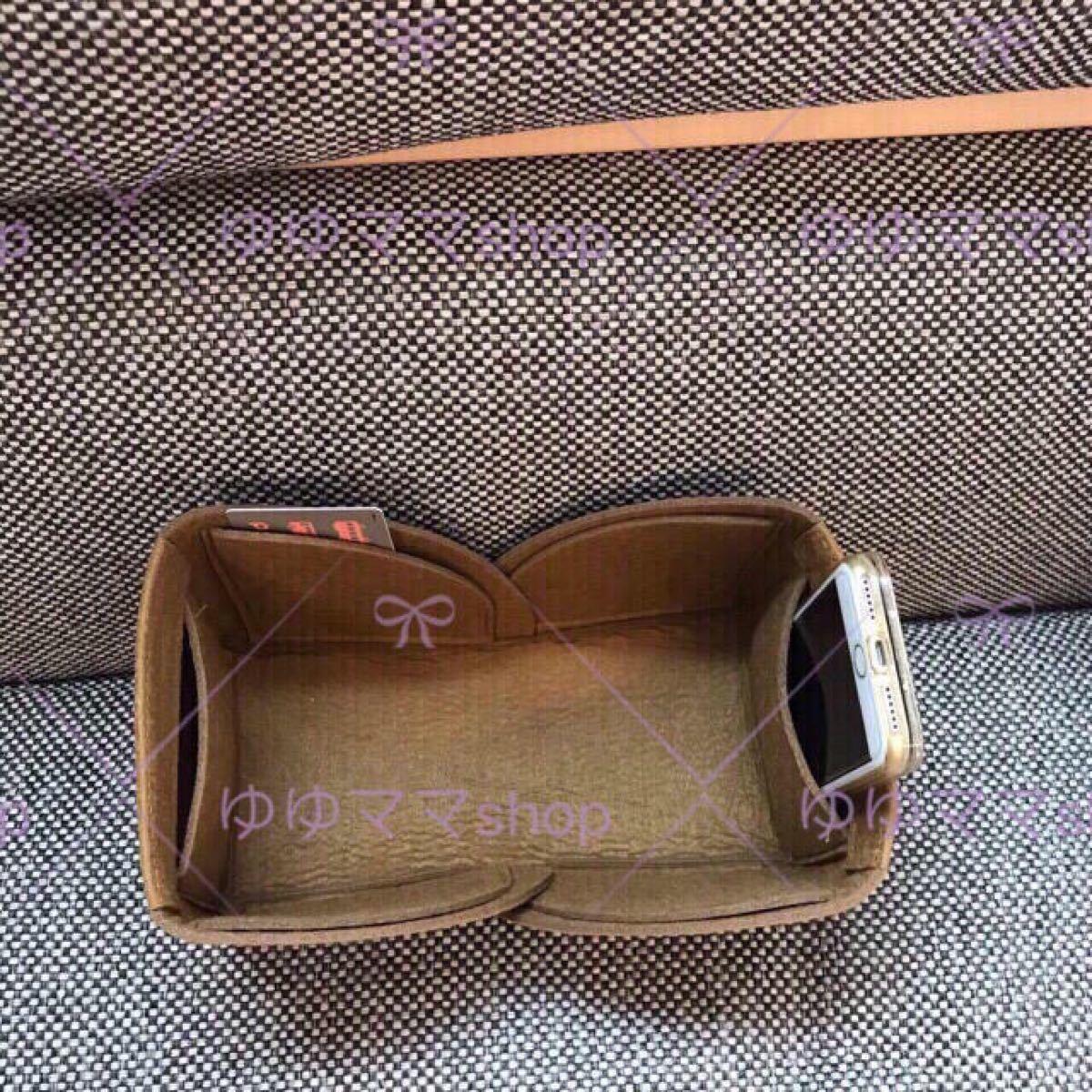 新品バッグインバッグ インナーバッグ キャメル色 リンディ30cm用