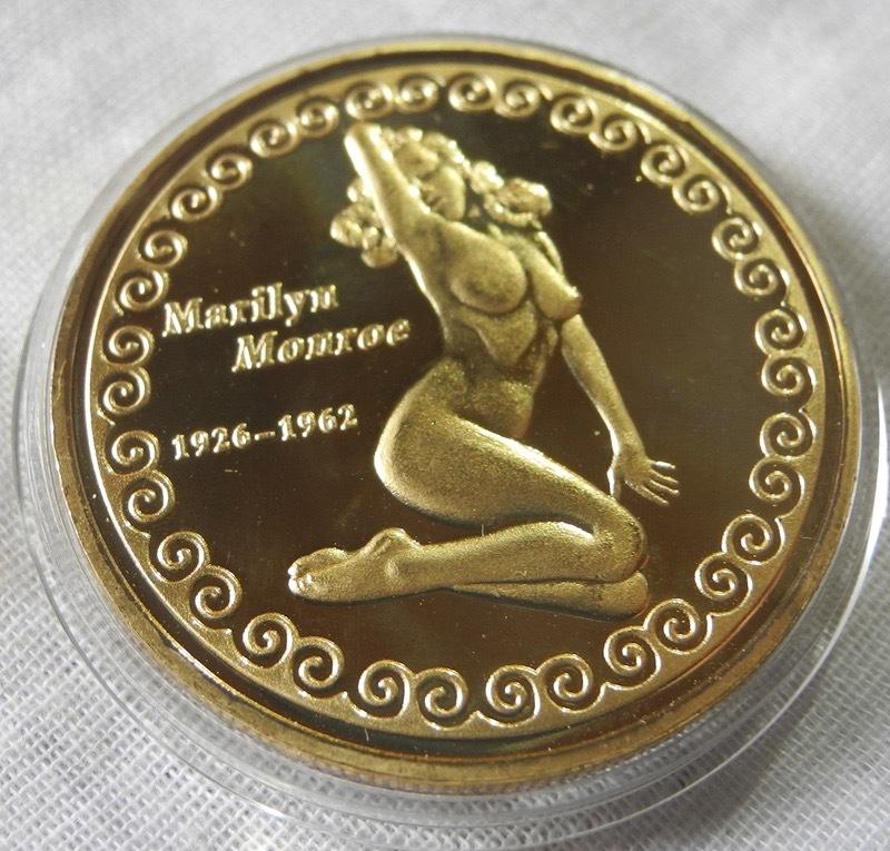 マリリン・モンロー コレクションコイン 記念メダル 金メダル 緑 レトロ カラー版 24金P 1oz 1オンス アメリカ 金貨_画像4
