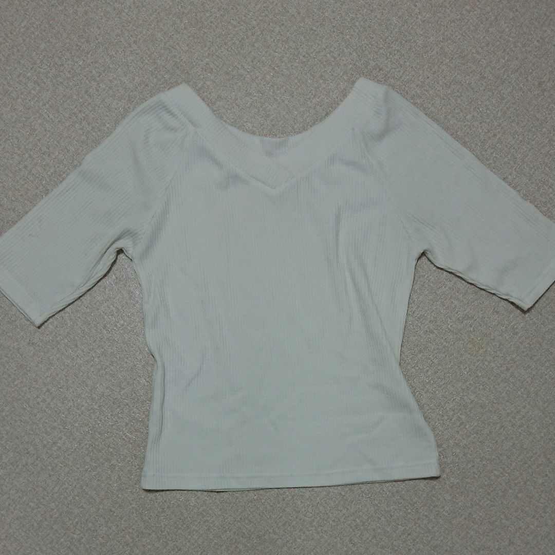トップス カットソー 白 半袖