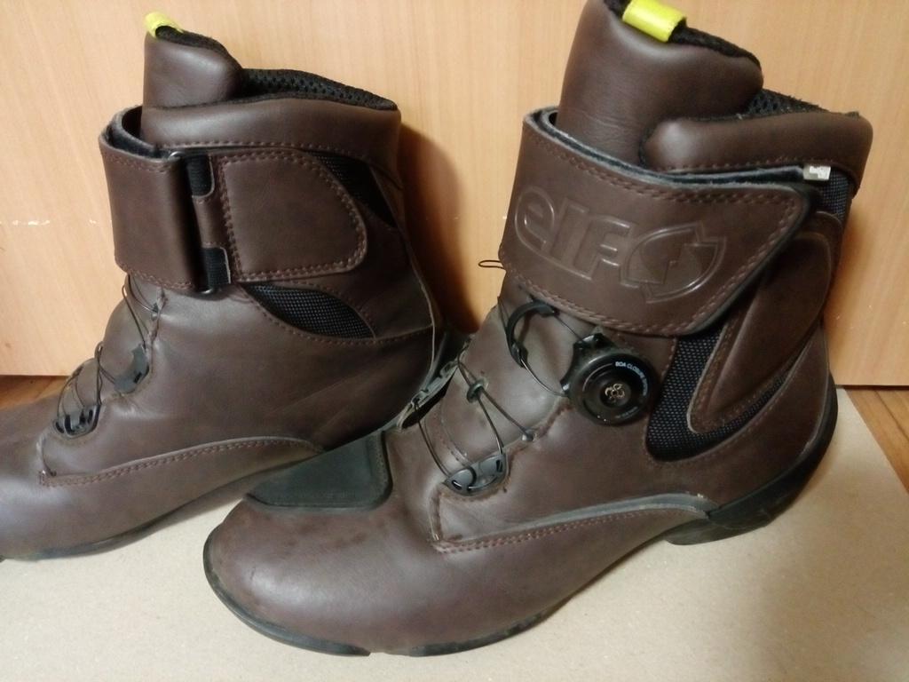 ELF(エルフ) ライディングシューズ EVOLUZIONE03【エヴォルツィオーネ03】 ダークブラウン 26.5cm バイクブーツ 靴_画像2
