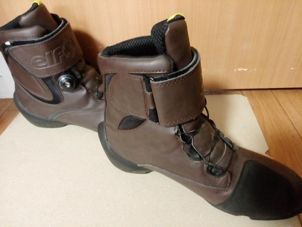 ELF(エルフ) ライディングシューズ EVOLUZIONE03【エヴォルツィオーネ03】 ダークブラウン 26.5cm バイクブーツ 靴_画像3
