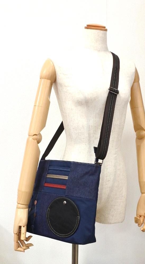 デニム レディース ショルダーバッグ ピンク 斜め掛け 軽い たくさん入る おしゃれ カバン かばん 鞄 ミセス 女性 シニア 母の日 ギフト_色違いですがイメージです