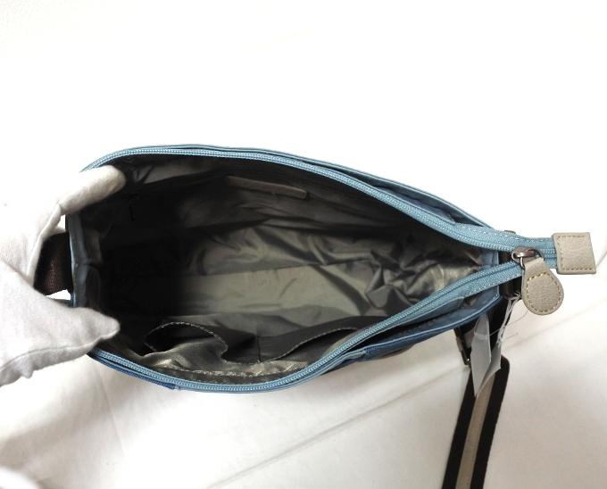 デニム レディース ショルダーバッグ ブルー 斜め掛け 軽い たくさん入る おしゃれ カバン かばん 鞄 ミセス 女性 シニア 母の日 ギフト_画像4