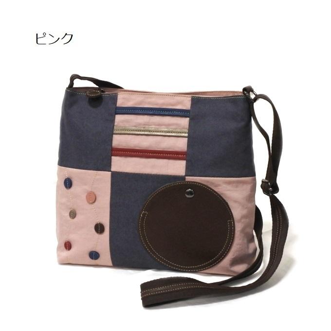 デニム レディース ショルダーバッグ ピンク 斜め掛け 軽い たくさん入る おしゃれ カバン かばん 鞄 ミセス 女性 シニア 母の日 ギフト_画像1