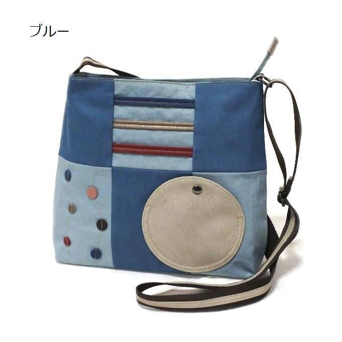 デニム レディース ショルダーバッグ ブルー 斜め掛け 軽い たくさん入る おしゃれ カバン かばん 鞄 ミセス 女性 シニア 母の日 ギフト_画像1
