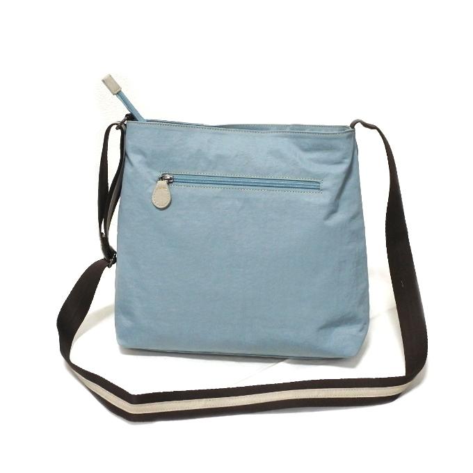 デニム レディース ショルダーバッグ ブルー 斜め掛け 軽い たくさん入る おしゃれ カバン かばん 鞄 ミセス 女性 シニア 母の日 ギフト_画像2
