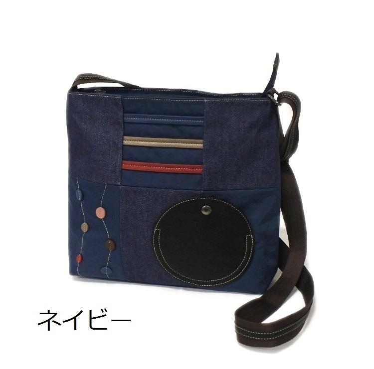デニム レディース ショルダーバッグ ネイビー 斜め掛け 軽い たくさん入る おしゃれ カバン かばん 鞄 ミセス 女性 シニア 母の日 ギフト_画像1
