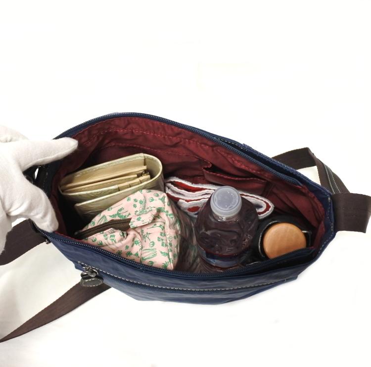 デニム レディース ショルダーバッグ ネイビー 斜め掛け 軽い たくさん入る おしゃれ カバン かばん 鞄 ミセス 女性 シニア 母の日 ギフト_画像7