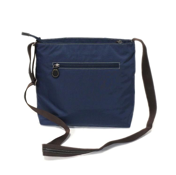 デニム レディース ショルダーバッグ ネイビー 斜め掛け 軽い たくさん入る おしゃれ カバン かばん 鞄 ミセス 女性 シニア 母の日 ギフト_画像3