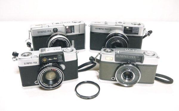 H527●日本製 OLYMPUS オリンパス フィルムカメラ 4台セット PEN D3/PEN EE/PEN EED/TRIP 35 オリンパス ペン トリップ_画像1