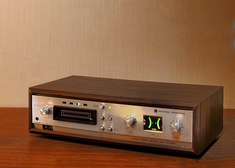 ★ あの頃の時代に触れてみたい!National 8track stereo recorder RS-806U 昭和の香りと味わいのある8トラ♪ ¥1開始_画像1