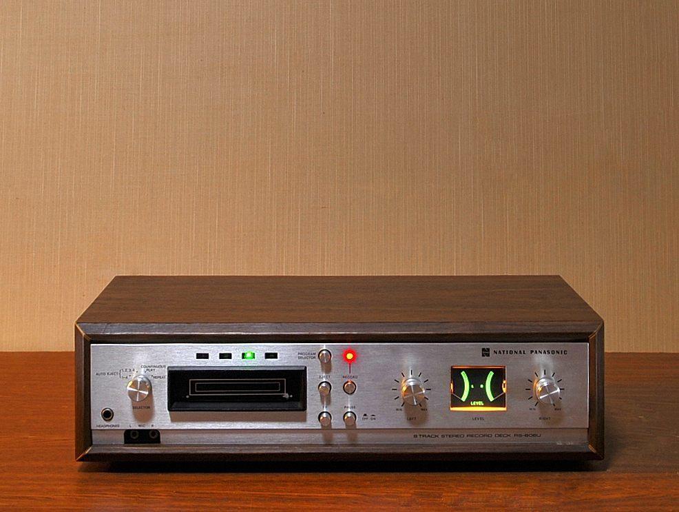 ★ あの頃の時代に触れてみたい!National 8track stereo recorder RS-806U 昭和の香りと味わいのある8トラ♪ ¥1開始_画像2