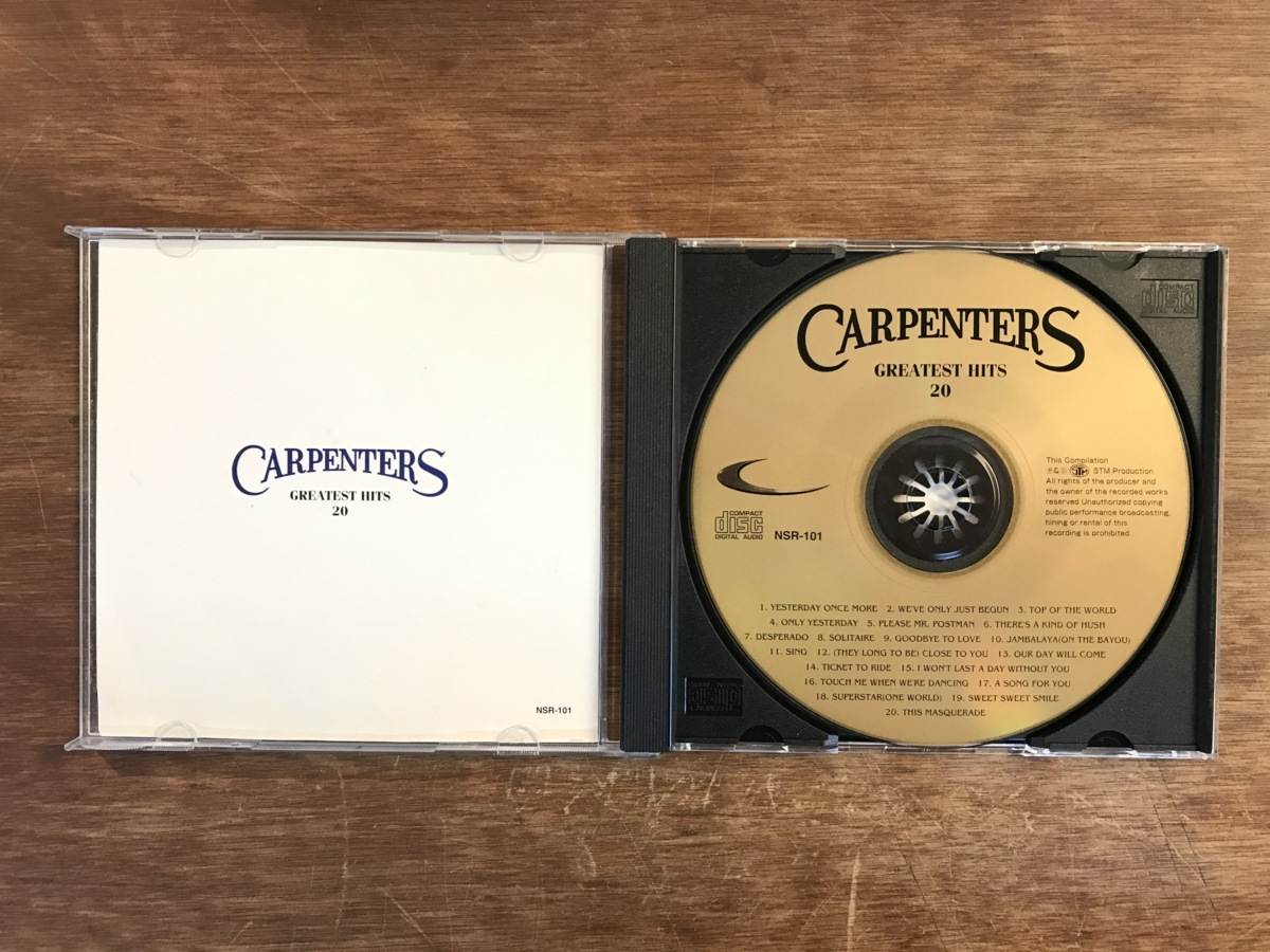 ■送料無料■CARPENTERS [GREATEST HITS 20] 輸入盤 CD 音楽 MUSIC /UN/M25-61_画像3