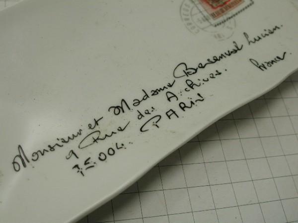 超希少!!コレクション大放出●古いフランスのレター型セラミックトレー!!■パリの手紙■ビンテージ■■1950年代60年代70年代_画像6