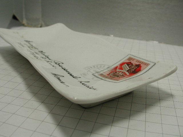 超希少!!コレクション大放出●古いフランスのレター型セラミックトレー!!■パリの手紙■ビンテージ■■1950年代60年代70年代_画像9