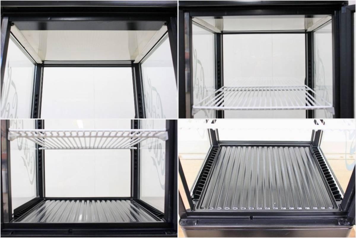 ■SANDEN/サンデン 冷蔵ショーケース 卓上 4面ガラス 両開き コカ・コーラ AG-LI54X-CCBK 2010年 中古■_画像7