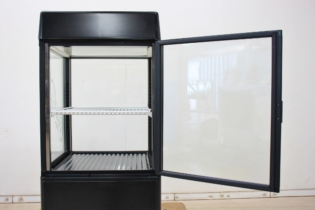 ■SANDEN/サンデン 冷蔵ショーケース 卓上 4面ガラス 両開き コカ・コーラ AG-LI54X-CCBK 2010年 中古■_画像6