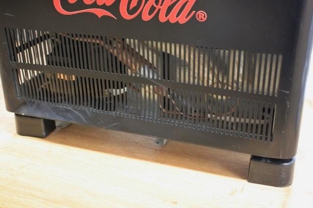 ■SANDEN/サンデン 冷蔵ショーケース 卓上 4面ガラス 両開き コカ・コーラ AG-LI54X-CCBK 2010年 中古■_画像9