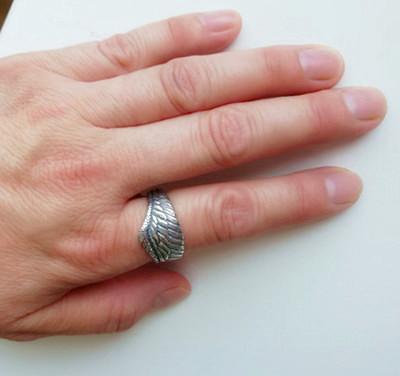 フリーサイズ  フェザーリング  羽   指輪  12号~23号 シルバー925、_画像6