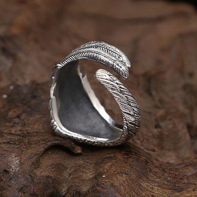 フリーサイズ  フェザーリング  羽   指輪  12号~23号 シルバー925、_画像2