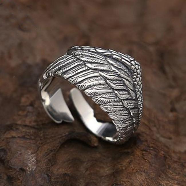 フリーサイズ  フェザーリング  羽   指輪  12号~23号 シルバー925、_画像5