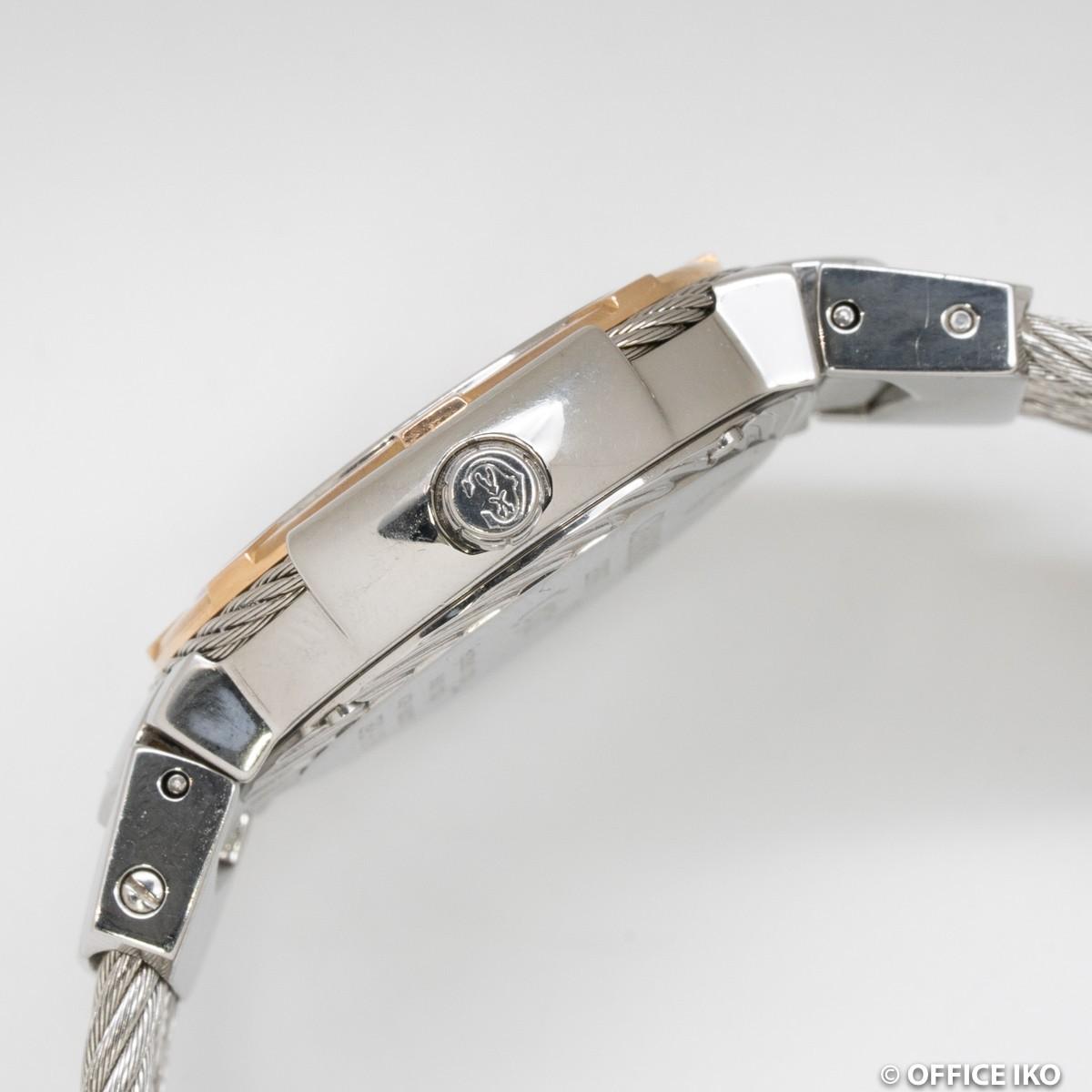 質イコー [シャリオール] CHARRIOL 腕時計 ケルテック シェル CE426 ダイヤ12P クオーツ レディース 中古 良品_画像2