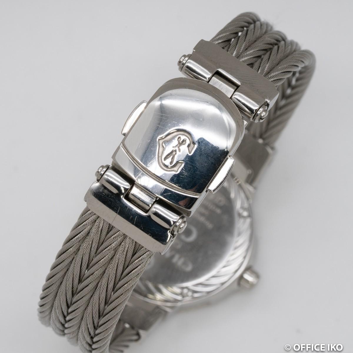 質イコー [シャリオール] CHARRIOL 腕時計 ケルテック シェル CE426 ダイヤ12P クオーツ レディース 中古 良品_画像4