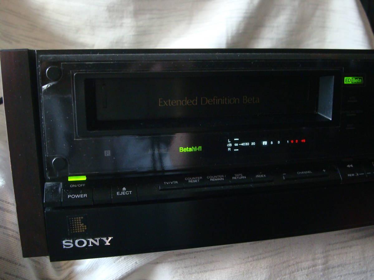 元箱付 SONY ソニー EDV-9000 EDベータビデオデッキ 通電確認済 ジャンク_画像2