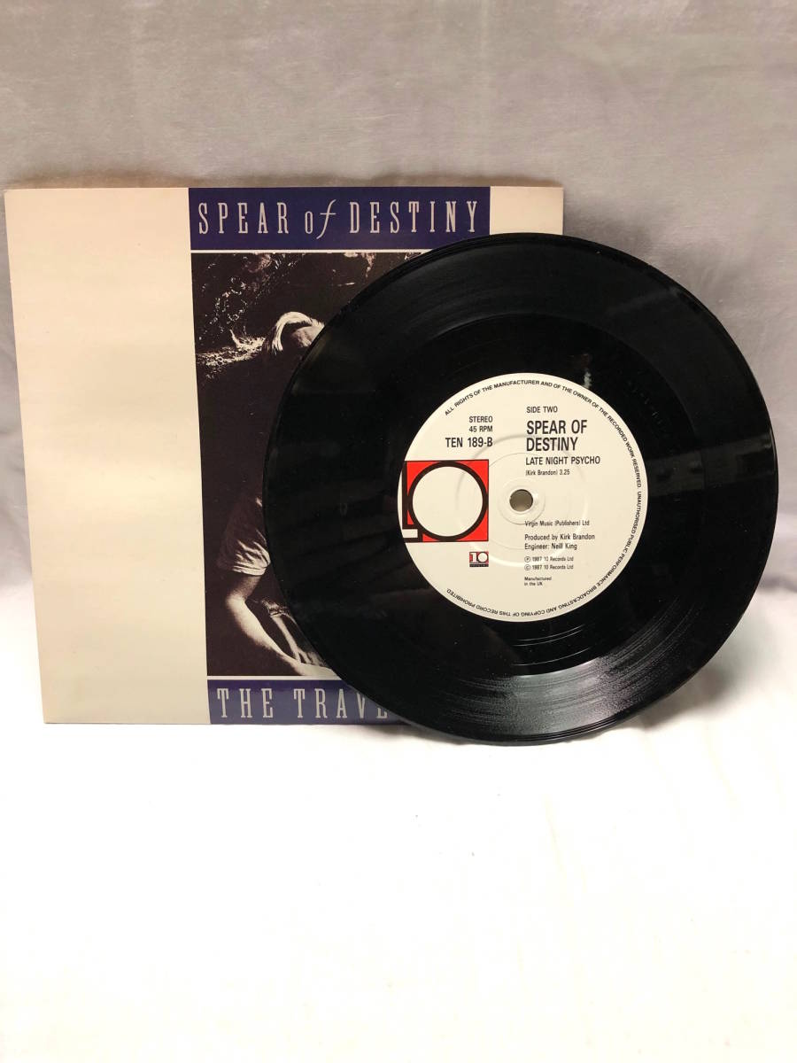 SPEAR OF DESTINY THE TRAVELLER 豪華箱入7インチシングル輸入盤◎ステッカー+パッチ+ポスター スピアーオブデスティニー LIMITED EDITION_画像8