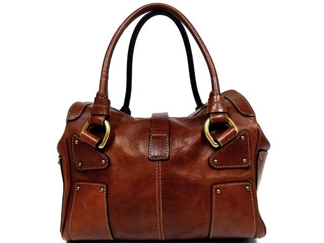 即決★NICOLI★レザーハンドバッグ ニコリ メンズ 茶 ブラウン 本革 トートバッグ 本皮 かばん 鞄 レディース 手提げバッグ_画像2