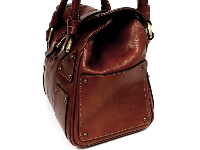即決★NICOLI★レザーハンドバッグ ニコリ メンズ 茶 ブラウン 本革 トートバッグ 本皮 かばん 鞄 レディース 手提げバッグ_画像4