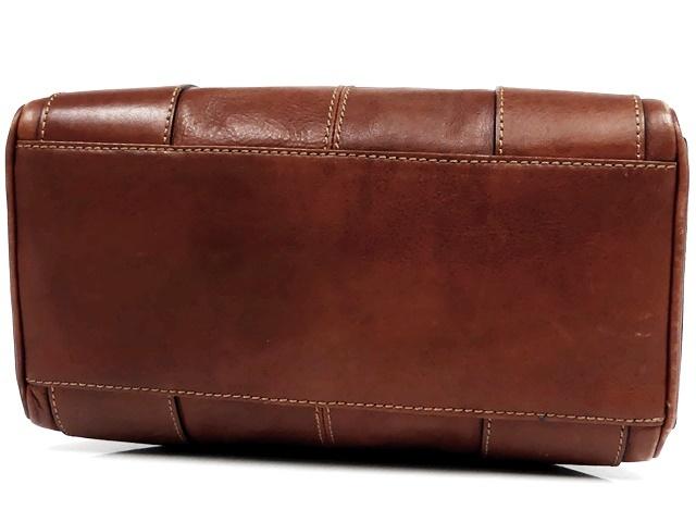 即決★NICOLI★レザーハンドバッグ ニコリ メンズ 茶 ブラウン 本革 トートバッグ 本皮 かばん 鞄 レディース 手提げバッグ_画像6