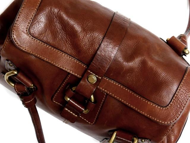 即決★NICOLI★レザーハンドバッグ ニコリ メンズ 茶 ブラウン 本革 トートバッグ 本皮 かばん 鞄 レディース 手提げバッグ_画像5